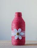 Handmade decorated bottle Stock Image
