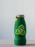Handmade decorated bottle Royalty Free Stock Image