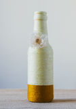 Handmade decorated bottle Stock Images