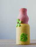 Handmade decorated bottle