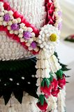 Handmade decoration flower. For thai ceremony Royalty Free Stock Image