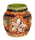 Handmade decoration of vase Royalty Free Stock Photography