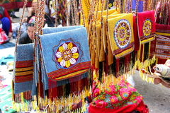 Handmade decorative bags Stock Image