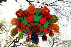 Handmade decorative hangings. In display in India handicraft fair Royalty Free Stock Photos