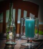 Handmade Decoupage--Pansies Mounted on Glass Stock Photo