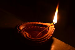 Handmade Diwali diya. In India