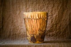 Handmade djembe drum Stock Photography