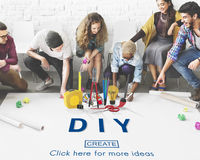 Handmade Do It Yourself Equipment Concept. Diverse People Handmade Equipment Concept royalty free stock images
