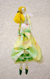 Handmade doll in a ball gown with wings and a bag  Stock Photos