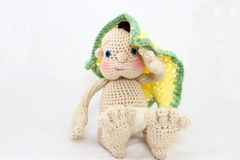 Handmade Doll With Blanket Royalty Free Stock Image