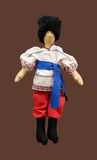 Handmade  doll boy in Ukrainian folk costume Stock Photos