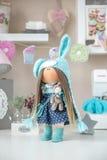 Handmade doll. Cute handmade chic interior dolls Stock Image