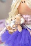 Handmade doll. Cute handmade chic interior dolls Stock Photography