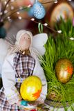 Handmade doll in at Easter Royalty Free Stock Photos