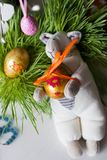 Handmade doll in at Easter Royalty Free Stock Images