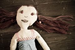 Handmade doll Stock Photos