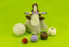 A handmade doll made of straw and wool Stock Photo