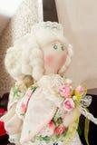 Handmade doll with natural hair Royalty Free Stock Photos