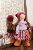 Handmade doll with natural hair Stock Photos
