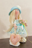 Handmade doll with natural hair Stock Photography
