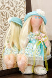 Handmade doll with natural hair Stock Images