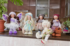 Handmade doll with natural hair Stock Photo