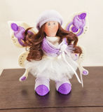 Handmade doll with natural hair Royalty Free Stock Photography