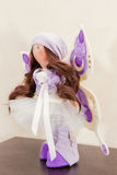 Handmade doll with natural hair Royalty Free Stock Image