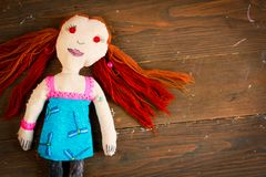 Handmade doll Stock Images