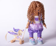 Handmade doll toy textile beautiful Stock Photo