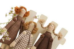 Handmade doll - toys Royalty Free Stock Image