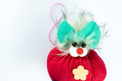 Handmade doll on white background Royalty Free Stock Image