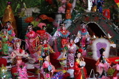 Handmade dolls. By traditional skill(the Intangible Cultural Heritage of Guangzhou,China),for the celebration in the double seventh festival(Chinese valentine's Stock Photo