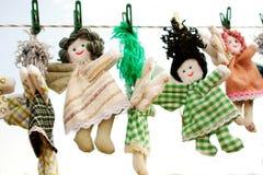 The handmade dolls Stock Photos