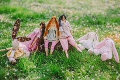 A handmade dolls Stock Photos