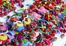 Handmade dolls sold at the street market Royalty Free Stock Images