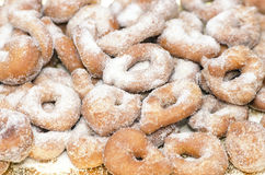 Handmade Doughnuts with sugar Royalty Free Stock Image