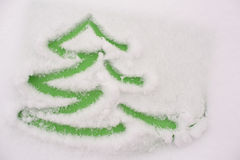 Handmade drawing in a snow Royalty Free Stock Images