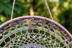 Handmade dream catcher with feathers threads and beads rope hanging Royalty Free Stock Images