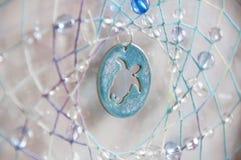 Handmade dreamcatcher z koralikami Zdjęcia Stock