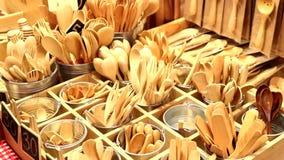 Handmade drewniany cutlery zdjęcie wideo