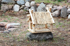 Handmade drewniany ptaka dom Zdjęcie Stock
