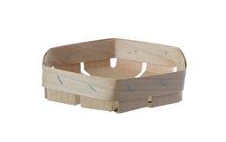 Handmade drewniany puchar pojedynczy białe tło fotografia royalty free