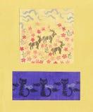 Handmade druk Obrazy Stock