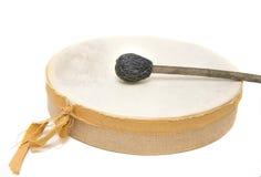 Handmade Drum. Handmade reindeer leather drum Stock Images