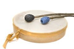 Handmade Drum. Handmade reindeer leather drum Royalty Free Stock Image