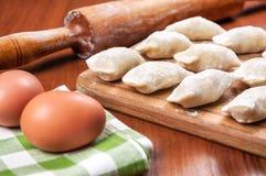 Handmade dumplings & x28;varenyky& x29; Stock Images