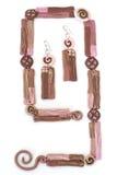 Handmade ear-rings Royalty Free Stock Image