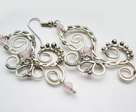 Handmade ear-rings Stock Photo
