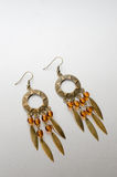 Handmade earrings Stock Images